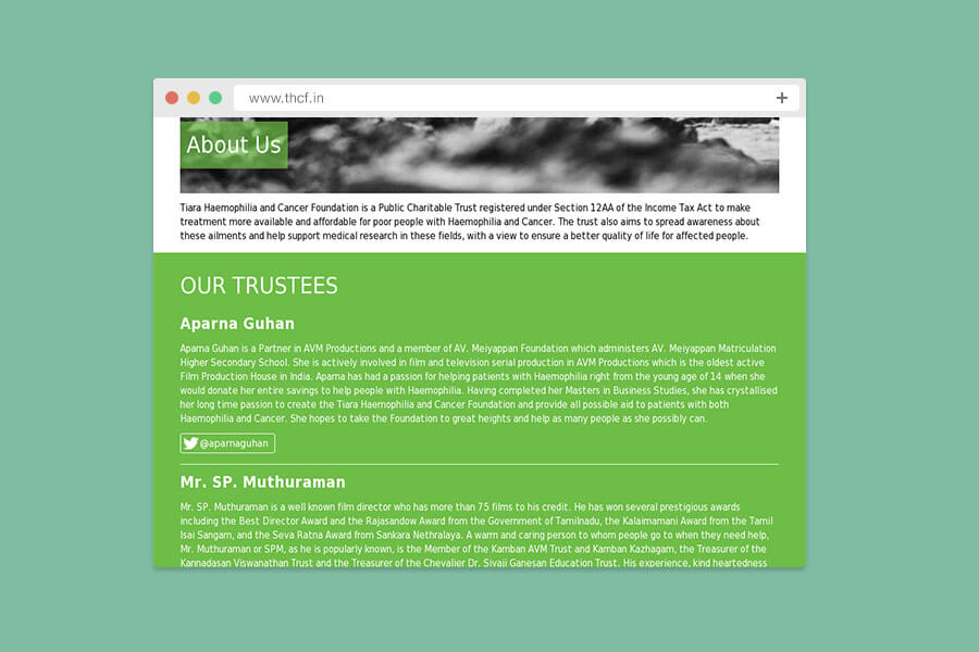 THCF Browser Mock